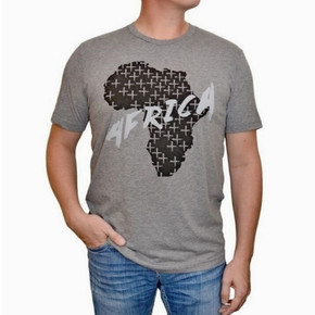 Unisex Gray Africa T-Shirt