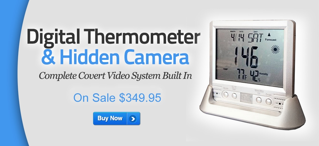 Check out this Digital Thermometer Hidden Camera