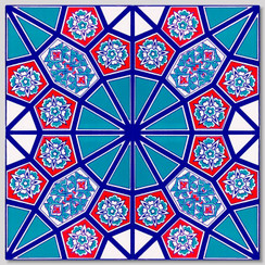 Ceramic tile - Style 003 - 20x20cm