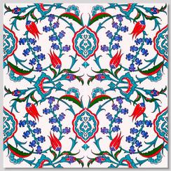 Ceramic tile - Style 006 - 20x20cm