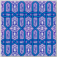 Ceramic tile - Style 008 - 20x20cm
