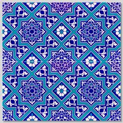 Ceramic tile - Style 011 - 20x20cm