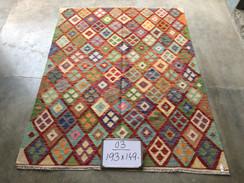 18 Kilim Rugs - 193x149 cm