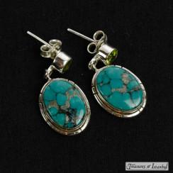 Turquoise earrings - 055