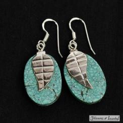 Turquoise earrings - 056