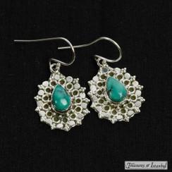 Turquoise earrings - 057