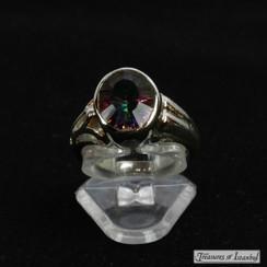 Mystic topaz ring - 061