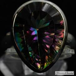 Mystic topaz ring - 062