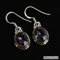 Mystic topaz earrings - 063