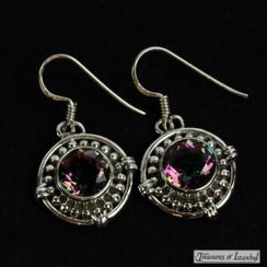 Mystic topaz earrings - 064