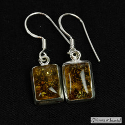 Amber earrings - 066
