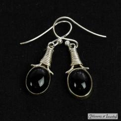 Onyx earrings - 069
