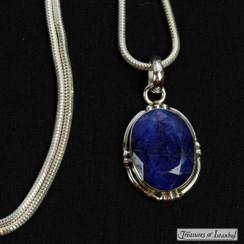 Sapphire pendant - 071