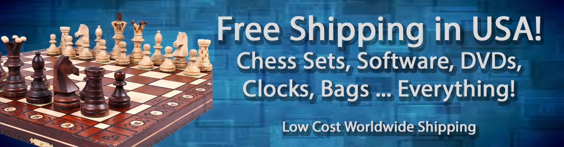 Free shipping: Chess Sets, Chess Boards, Chess Pieces, Chess Software- EVERYTHING!