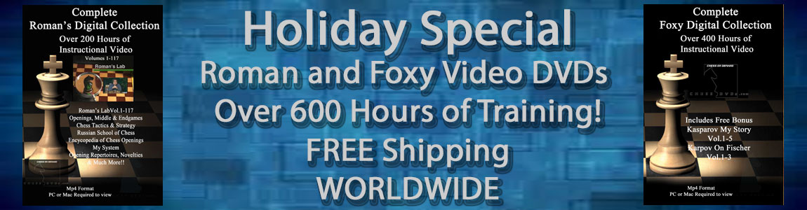 Video DVDs Roman and Foxy Chess Holiday Special