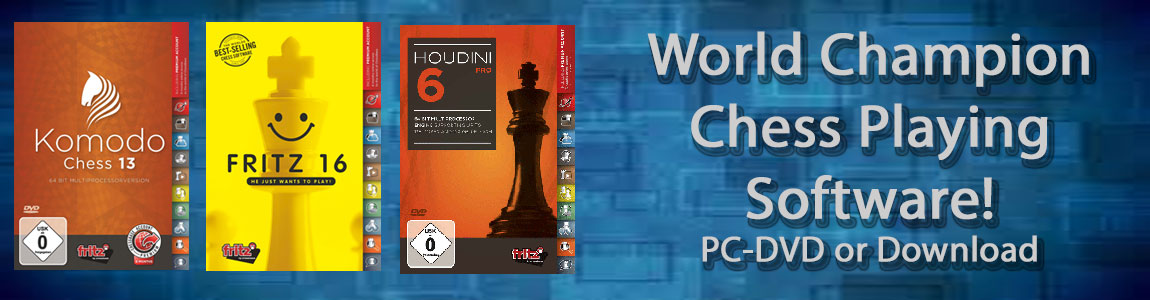 Chess Software Programs for Playing and Training- Fritz 16, Komodo 13, Houdini 6