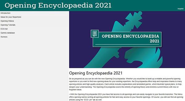 CHESSBASE OPENING ENCYCLOPAEDIA 2021