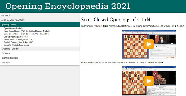CHESSBASE OPENING ENCYCLOPAEDIA 2021-1