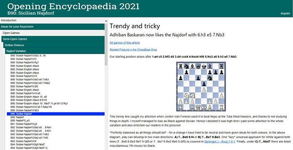 CHESSBASE OPENING ENCYCLOPAEDIA 2021 -2
