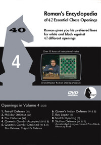 Roman's Lab 40: Encyclopedia of Chess Openings (Vol. 4) - Chess Opening Video DVD