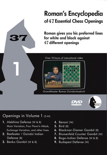 Roman's Lab 37: Encyclopedia of Chess Openings (Vol. 1) - Chess Opening Video DVD