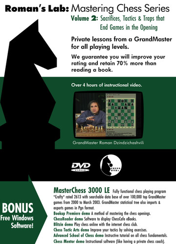 Roman's Lab 2: Sacrifices, Tactics, and Traps - Chess Opening Video DVD