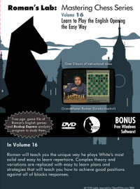 Roman's Lab 16: Play the English Opening the Easy Way - Chess Opening Video DVD