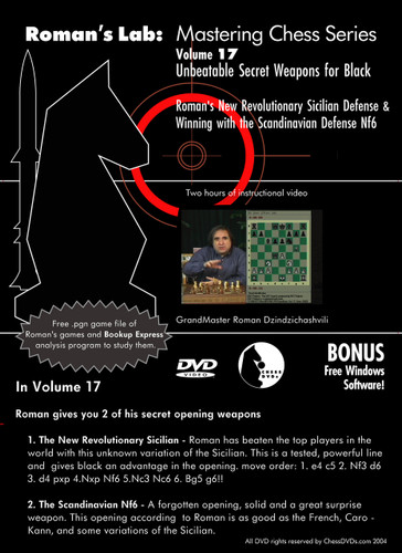 Roman's Lab 17: Unbeatable Secret Weapons for Black - Chess Opening Video DVD