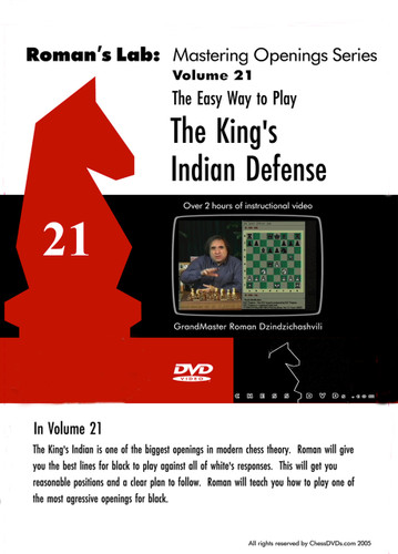 Roman's Lab 21: Easy Way to Play the King's Indian Defense - Chess Opening Video DVD