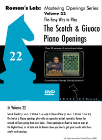 Roman's Lab 22: Play the Scotch Game and Giuoco Piano - Chess Opening Video DVD