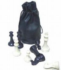 Chess Pieces Drawstring Bag