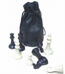 Chess Pieces Drawstring Bag