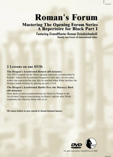 Roman's Forum 31: A Repertoire for Black (Part 1) - Chess Opening Video DVD