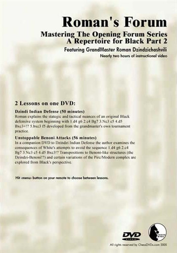 Roman's Forum 32: A Repertoire for Black (Part 2) - Chess Opening Video Download