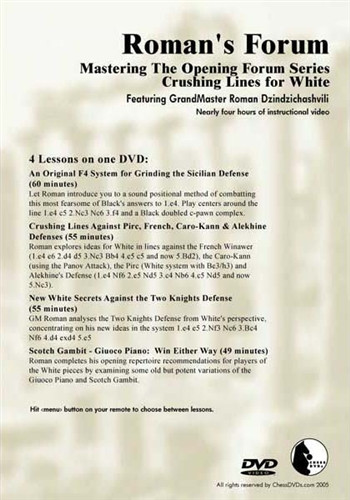Roman's Forum 33: Crushing Lines for White - Chess Opening Video Download