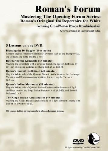 Roman's Forum 35: Original 1.d4 Repertoire for White - Chess Opening Video DVD