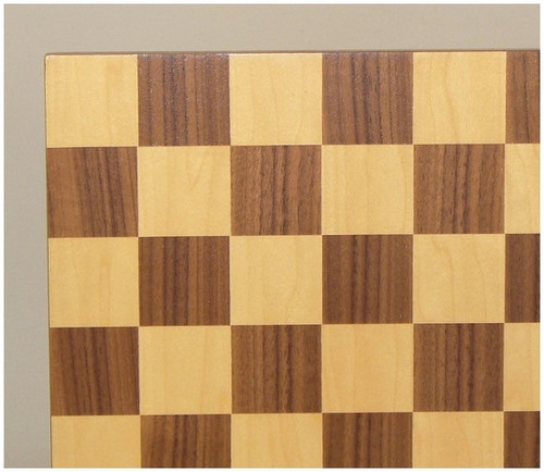 """Walnut and Maple Chess Board 13"""""""