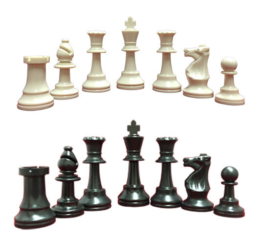 Chess Set Triple Weighted Chess Pieces 2 Extra Queens Chess Board