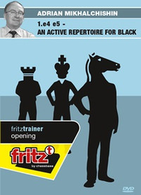 1.e4 e5: An Active Repertoire for Black - Chess Opening Software on DVD
