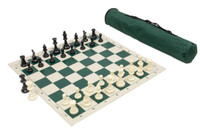 Travel Tournament Chess Set, 34 Chess Pieces (2 Extra Queens), Chess  Board and Canvas Archer Quiver Tote Bag combination