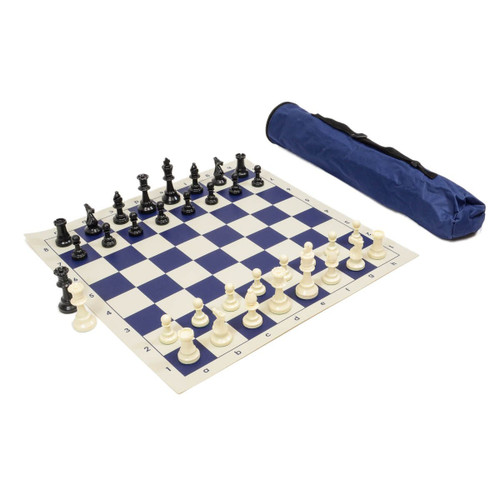 Chess Set: Tournament Chess Set with Triple Weighted Chess Pieces, Chess Board, Archer Quiver Tote Bag-combination