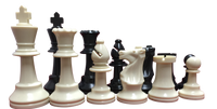 Triple Weighted Chess Pieces (2 Extra Queens) & Folding Chess Board  chess pieces