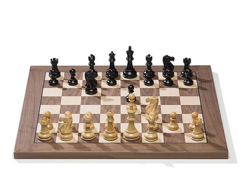 DGT e-Board with Classic Chess Pieces and Walnut Chess Board