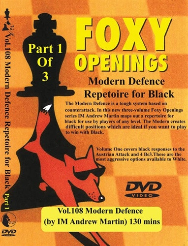 Foxy 108-110: The Modern Defense, Complete Set (3 DVDs) - Chess Opening Video DVD