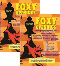 Foxy 112-113: A Repertoire against White's Anti-Sicilian (2 DVDs) - Chess Opening Video DVD