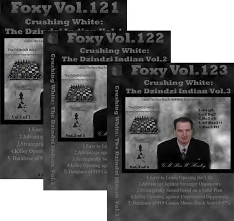 Foxy 121-123: Crushing White with the Dzindzi-Indian (3 DVDs) - Chess Opening Video DVD