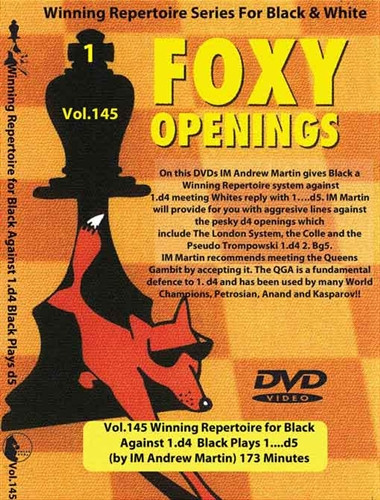 Foxy 145: A Winning 1.d4 d5 Repertoire for Black - Chess Opening Video DVD