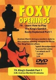 Foxy 79-80: How to Play the King's Gambit (2 DVDs) - Chess Opening Video DVD