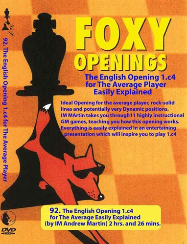 Foxy 92: The English Opening for the Average Player - Chess Opening Video DVD