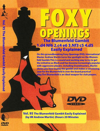 Foxy 95: The Benoni Defense, Blumenfeld Gambit - Chess Opening Video DVD